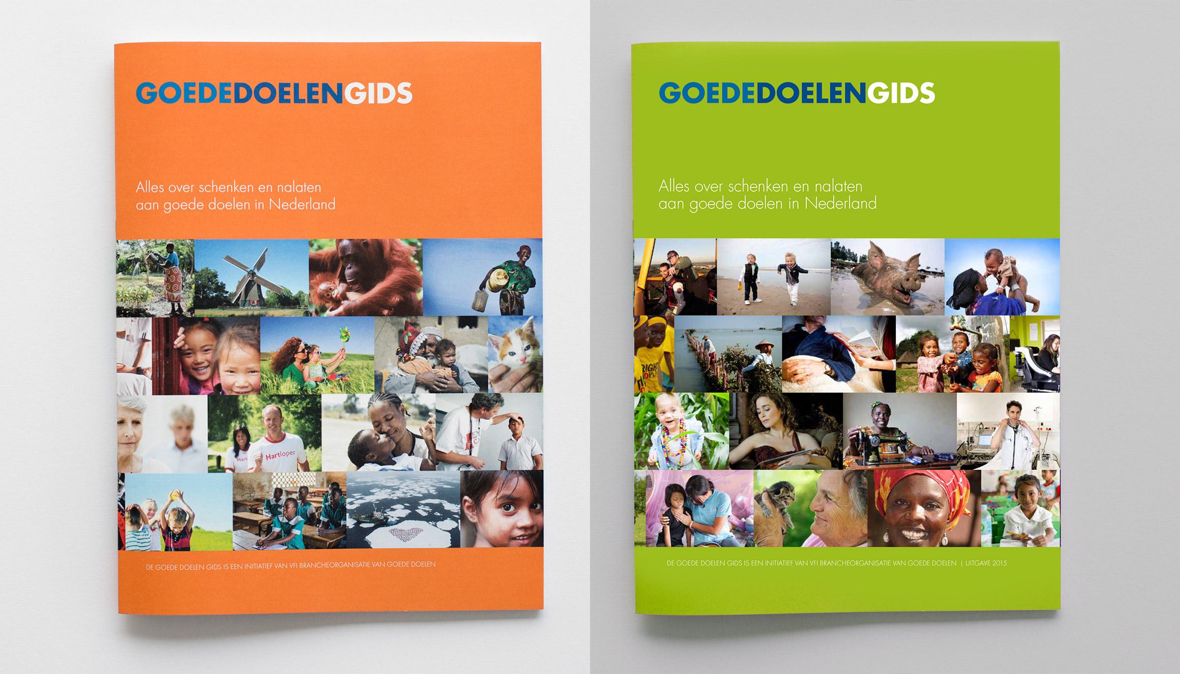 Ontwerp voor Gids Goede Doelen Nederland