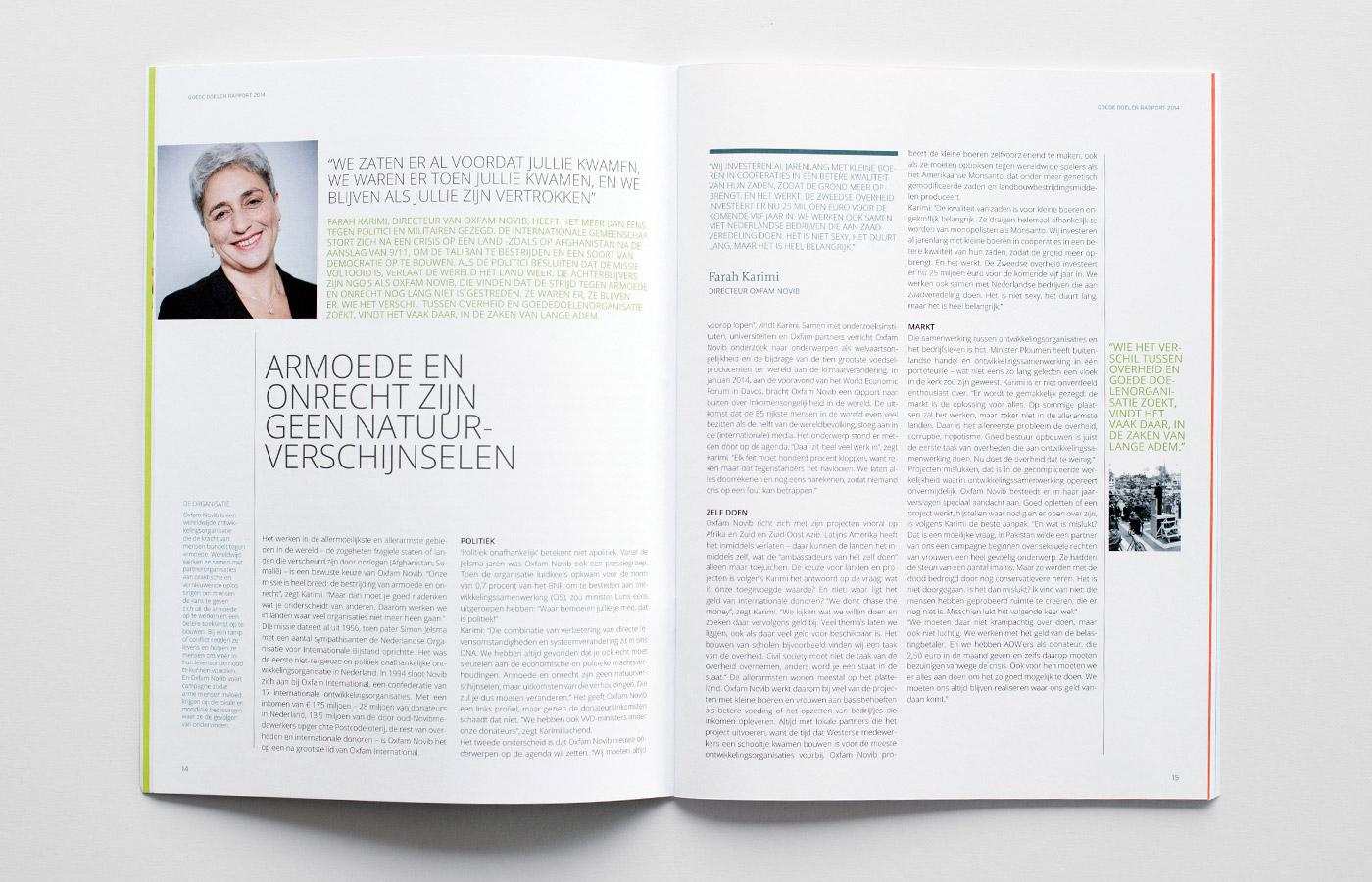 spread 2 rapport goede doelen Nederland